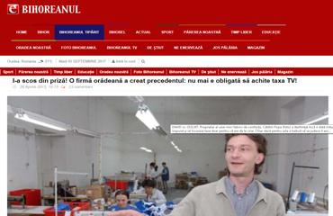 Avocat Oradea Cristian Rusu. I-a scos din priză! O firmă orădeană a creat precedentul: nu mai e obligată să achite taxa TV!